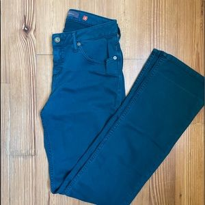 Teal color jeans SIZE 2
